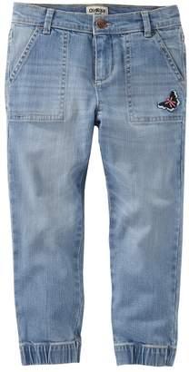 Osh Kosh Oshkosh Bgosh Girls 4-12 Butterfly Denim Jogger Pants