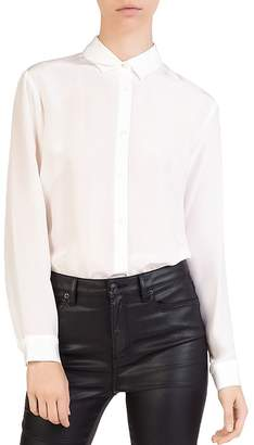 The Kooples Button-Down Blouson Bodysuit