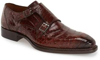 Mezlan 'Prague' Genuine Crocodile Double Monk Strap Shoe