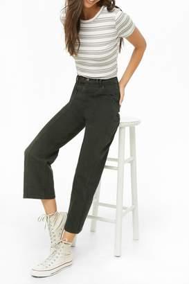 Forever 21 High-Rise Straight-Leg Jeans