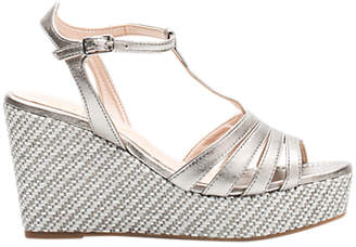 Unisa Luarte Wedge Heel Sandals, Metallic Leather
