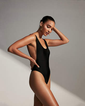 Express High Leg One-Piece Swimsuit