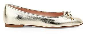 Stuart Weitzman Women's Gabby Metallic Leather Ballet Flats