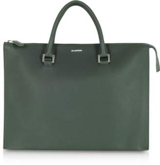 Jil Sander Tootie Knitted Leather Tote Bag