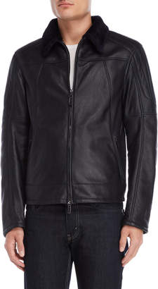 Rob-ert Robert Comstock Leather Real Shearling Jacket