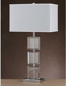 Cube Crystal Table Lamp