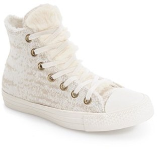 Women's Converse Chuck Taylor All Star Winter Knit High Top $89.95 thestylecure.com