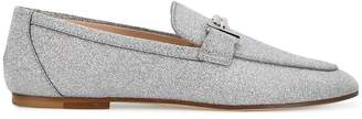 Tod's Double T glitter loafers