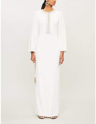 Jenny Packham Otile diamanté-embellished crepe gown