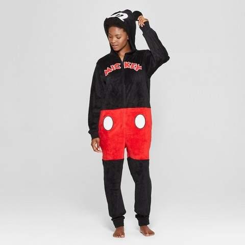 Disney Women's Disney Mickey Mouse Union Suit - Black