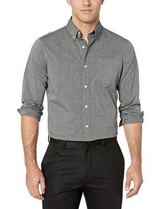 Chaps Men's Patterned ec Stretch Long Sleeve Sport Shirt