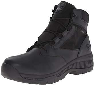 Timberland Men's 6 Inch Valor Soft Toe Waterproof Side Zip Work Boot