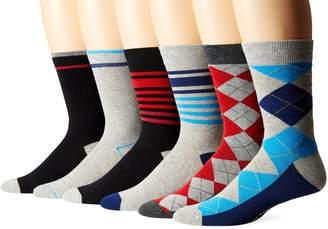 Ben Sherman Men's 6 Pack Ben Crew Socks
