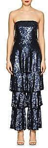 Osman Women's Tamina Sequined Strapless Jumpsuit - Navy