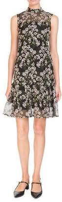 Erdem Nena Sleeveless A-Line Floral-Embroidered Dress