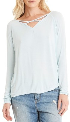 Women's Michael Stars Strappy Keyhole Top $88 thestylecure.com