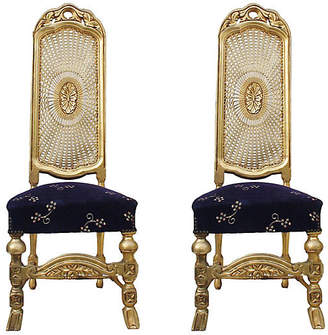 One Kings Lane Vintage Sunburst Cane-Back Chairs - Set of 2 - Laurie Frank