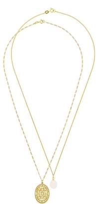 Wouters & Hendrix Gold Filigree & Pearl necklace set