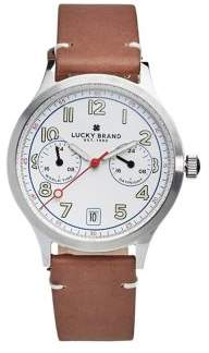 Lucky Brand Jefferson Highland Multi-Function Leather Strap Watch