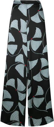 L'Autre Chose printed wide-leg trousers