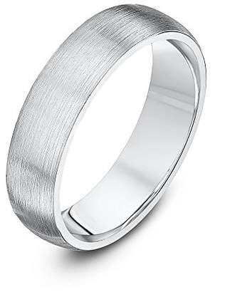 Theia Palladium 950 - Super Heavy Weight Court Shape 6mm Matted Wedding Ring - Size Z+3