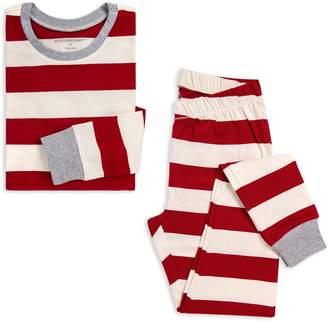 Burt's Bees Rugby Stripe Organic Womens 2-Piece Holiday Matching Family Pajamas
