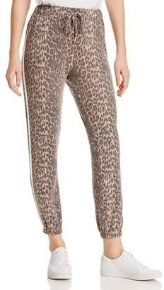 Vintage Havana Track Stripe Leopard Jogger Pants