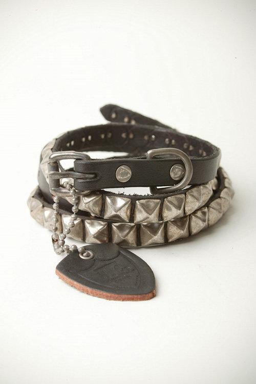Hollywood Trading Company Skinny Studded Belt-B/S