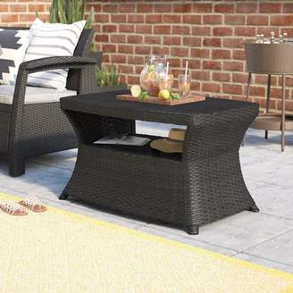 Armenta Mercury Row Wicker Outdoor Dining Table