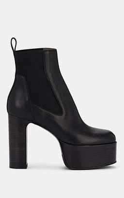 Rick Owens Women's Leather Platform Chelsea Boots - Black