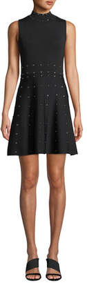 Parker Joy Studded Knit High-Neck Sleeveless Dress