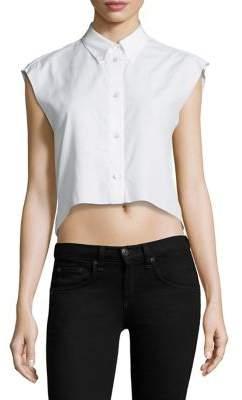 Helmut Lang Cropped Cotton Poplin Shirt