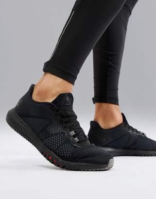 Reebok Training astroride flex sneakers in triple black cn2586