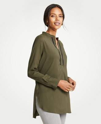 Ann Taylor Contrast Piped Tunic