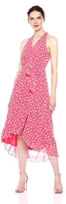 Chetta B Women's Polka Dot Hi Lo Maxi Dress