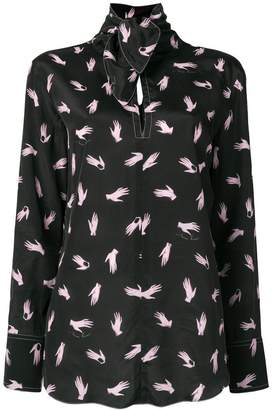 Nina Ricci printed bow blouse