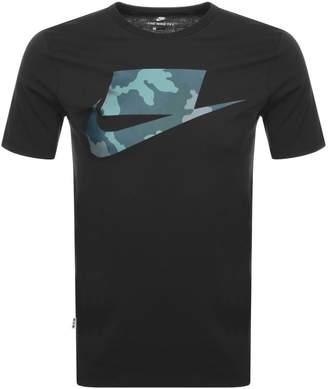 Nike Camouflage Swoosh Logo T Shirt Black