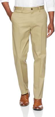 Buttoned Down Men's Relaxed Fit Flat Front Stretch Non-Iron Dress Chino Pant