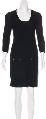 Tibi Long Sleeve Sweater Dress