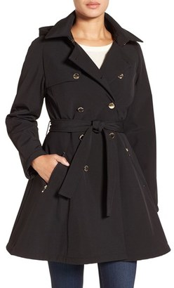 Ivanka Trump Water Resistant Hooded Double Breasted Coat $200 thestylecure.com