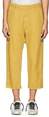 Nili Lotan Women's Luna Cotton-Linen Twill Drop-Rise Pants