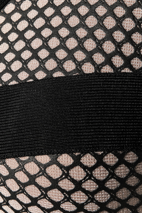 Herve Leger Bandage and mesh dress