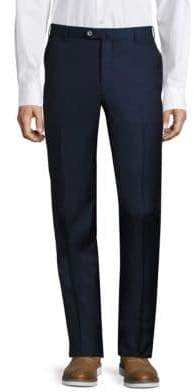 Isaia Flat-Front Dress Pants