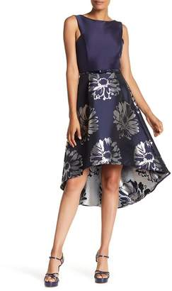 Donna Ricco Sleeveless Belted Twofer Dress
