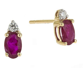 JCPenney FINE JEWELRY LIMITED QUANTITIES Lead Glass-Filled Ruby and Diamond-Accent Stud Earrings