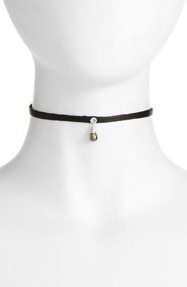 Women's Nashelle Leather & Stone Choker $58 thestylecure.com