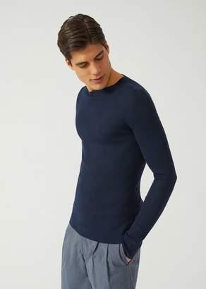 Emporio Armani Jumper In Lightweight Virgin Wool Knit