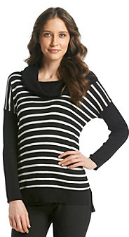 Chaus Cowlneck Striped Sweater