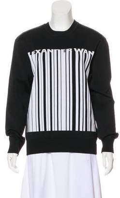 Alexander Wang Barcode Crew Neck Sweatshirt