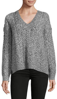 Vince Cable Knit Wide V-Neck Sweater